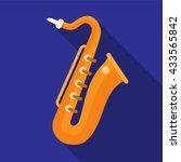 saxophone icon | Shutterstock .eps vector #433565842