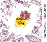 nature food vector poster.... | Shutterstock .eps vector #433568512