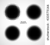 simple abstract halftone... | Shutterstock .eps vector #433575166