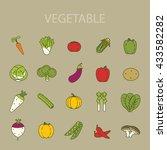 vegetable icon | Shutterstock .eps vector #433582282