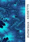 abstract blue background fractal | Shutterstock . vector #433587775
