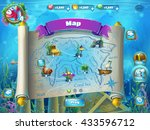 atlantis ruins playing field  ... | Shutterstock .eps vector #433596712