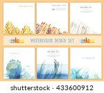 set of backgrounds for book... | Shutterstock . vector #433600912