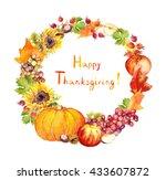 Thanksgiving Wreath   Fruits...