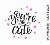 friendship family and romantic... | Shutterstock .eps vector #433611625