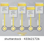 timeline description. 5 steps... | Shutterstock .eps vector #433621726