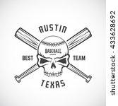 hand drawn baseball team logo... | Shutterstock .eps vector #433628692