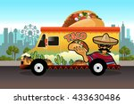 a vector illustration of taco... | Shutterstock .eps vector #433630486