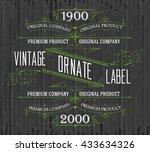 vintage typographic label... | Shutterstock .eps vector #433634326