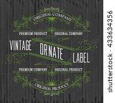 vintage typographic label... | Shutterstock .eps vector #433634356