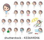 set of various poses of...