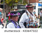 male morris dancer with lots of ... | Shutterstock . vector #433647322