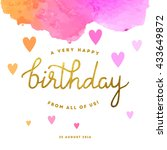 happy birthday illustration | Shutterstock .eps vector #433649872