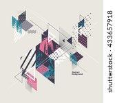 abstract modern geometric... | Shutterstock .eps vector #433657918