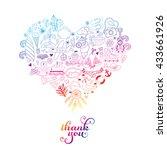summer heart design made of...   Shutterstock .eps vector #433661926