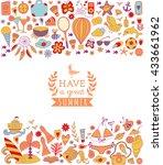 summer vacation hand drawn...   Shutterstock .eps vector #433661962