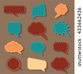 speech bubbles tag sticker set  ...   Shutterstock .eps vector #433662436