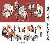 law system isometric horizontal ... | Shutterstock .eps vector #433665688
