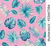 tropical seamless pattern with... | Shutterstock .eps vector #433667386