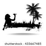 singing girl     Shutterstock .eps vector #433667485