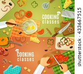 cooking classes top view with... | Shutterstock .eps vector #433667515