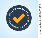 quality guaranteed   tested... | Shutterstock .eps vector #433669492