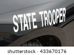 white state trooper  decal on a ...