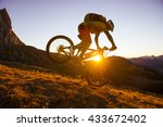 mountain biker jump in the air... | Shutterstock . vector #433672402