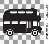 vector black double decker bus...