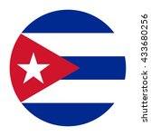 simple vector button flag   cuba | Shutterstock .eps vector #433680256