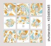 vector set of watercolor hand... | Shutterstock .eps vector #433680685