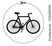 bicycle vector icon | Shutterstock .eps vector #433688596