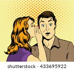 vector illustration with woman... | Shutterstock .eps vector #433695922