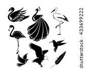 big set of artistic vector... | Shutterstock .eps vector #433699222