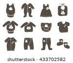 fashion set of  baby clothing... | Shutterstock .eps vector #433702582