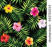 tropical seamless pattern with... | Shutterstock .eps vector #433703215