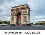 arc de triomphe in paris  france | Shutterstock . vector #433710106