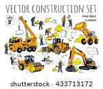 building people and... | Shutterstock .eps vector #433713172