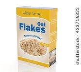 3d rendering of oat flakes... | Shutterstock . vector #433716322