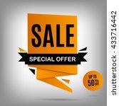vector sale banner. yellow sale ... | Shutterstock .eps vector #433716442