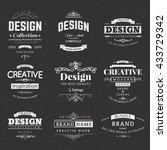 retro creative vintage labels... | Shutterstock .eps vector #433729342