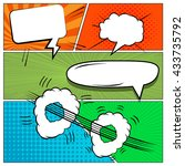 comics book background. mock up ... | Shutterstock .eps vector #433735792