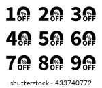 sale icon set. discount price... | Shutterstock .eps vector #433740772