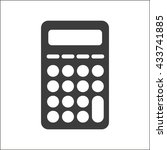 calculator icon. flat vector... | Shutterstock .eps vector #433741885