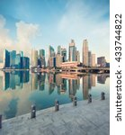 view of central singapore at... | Shutterstock . vector #433744822