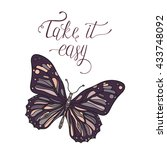 Take It Easy. Hand Drawn Card...