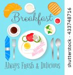 breakfast always fresh and... | Shutterstock .eps vector #433748716