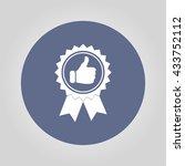medallion icon. flat design... | Shutterstock . vector #433752112