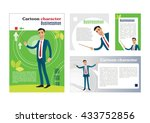 businessman. cartoon character. ... | Shutterstock .eps vector #433752856