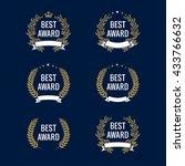 best award vector gold laurel... | Shutterstock .eps vector #433766632